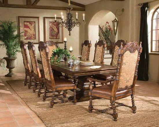 Delightful Ambella Home Aspen Rectangular Dining Table.This Rectangular Dining Table  Is Carved From Solid Hardwood With An Oak Veneer Top. Its Rich Mahogany  Finish, ...
