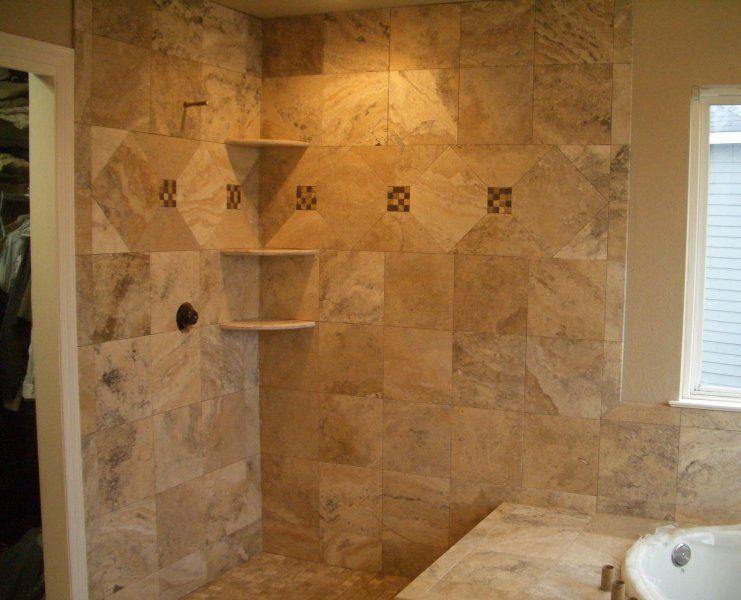 Travertine Tile Bathroom Ideas Part - 40: Travertine Tile Shower With Mozaic Vertical | Travertine1