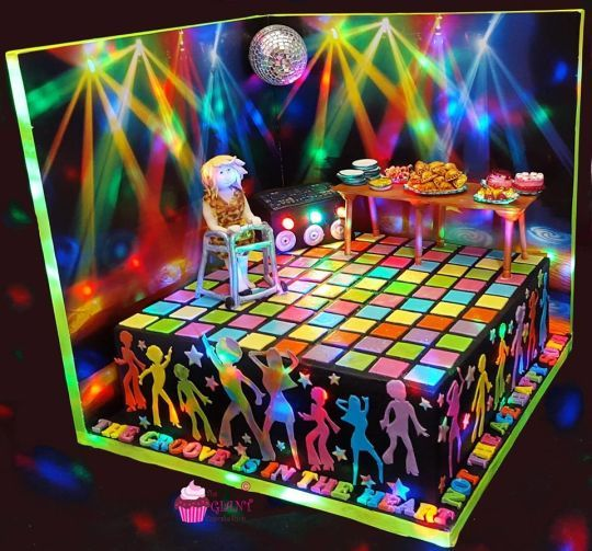 Disco Cake Cake Art In 2019 Disco Cake 40th Cake