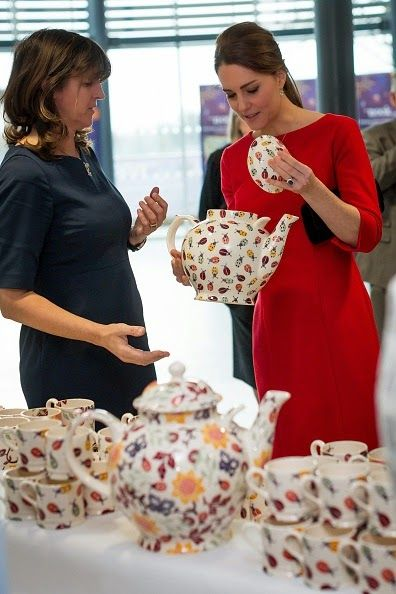 Royal Family Around the World: The Duchess Of Cambridge Attends East Anglia's Children's Hospices Appeal Launch on November 25, 2014 in Norwich, England...pottery for cause