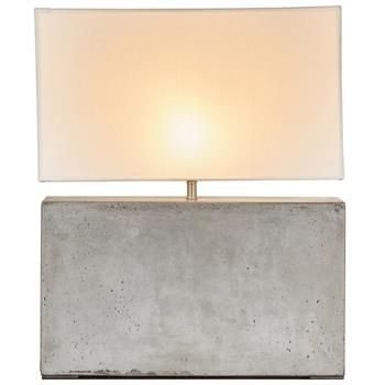 Doyle Industrial Loft Cement Rectangular Table Lamp