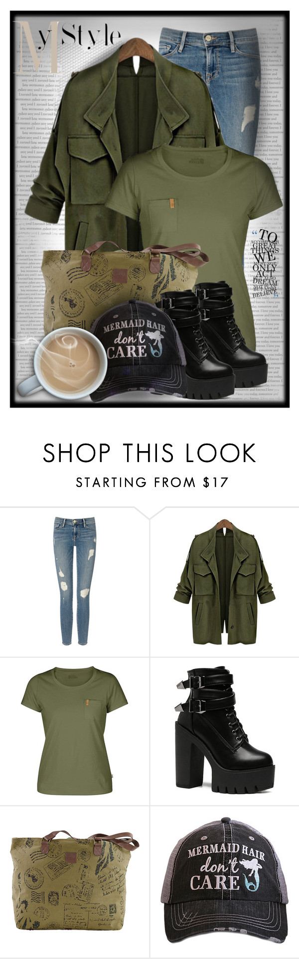 """My Style"" by nightowl59 ❤ liked on Polyvore featuring Frame Denim, Fjällräven, Katydid Collection and MyStyle"