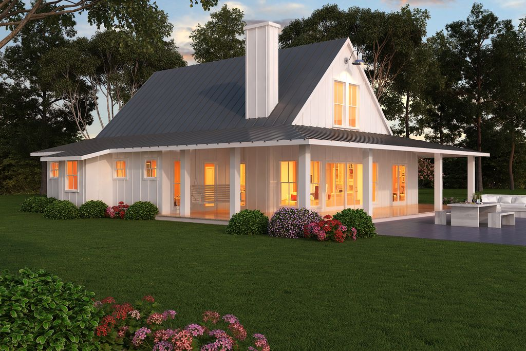 Farmhouse other elevation plan 888 7 i 39 d for Contemporary farmhouse floor plans