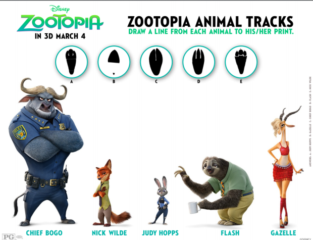 Zootopia Coloring And Activity Sheets See It In Dolby Cinema At AMC Prime