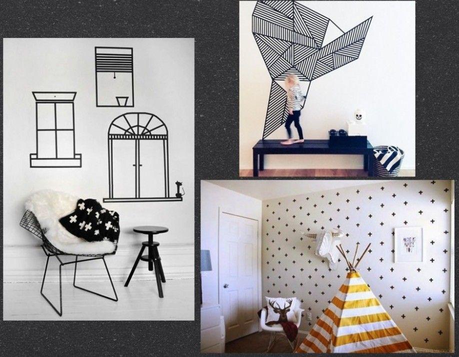 d co masking tape diy blog d co d co pinterest murs faux fausses fen tres et tapas. Black Bedroom Furniture Sets. Home Design Ideas