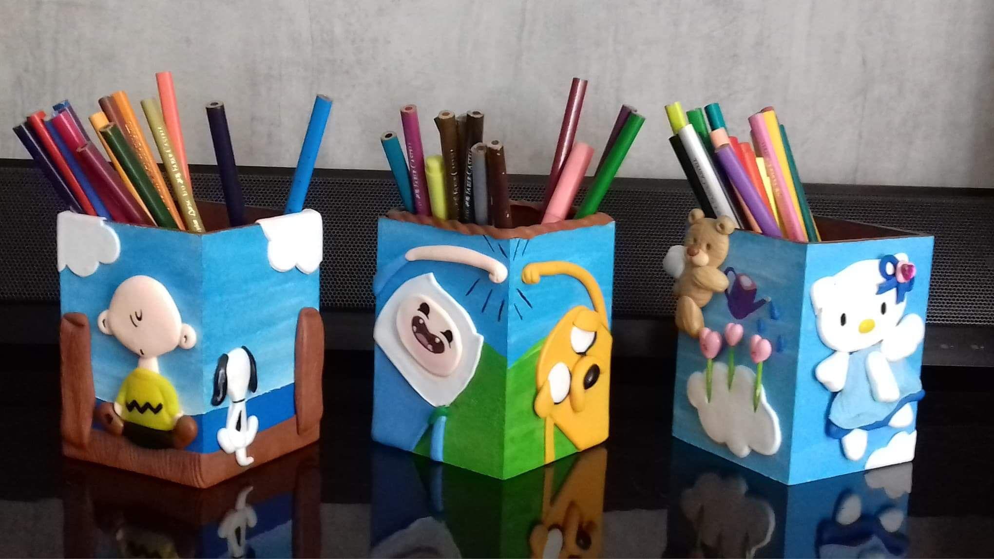 Pin de Katty Flores en Porta lápices | Madera, Cerámica y
