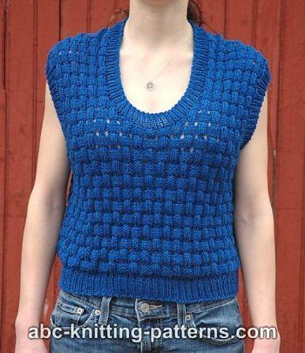 Knitting Patterns Galore - Sense of Summer Seamless Top