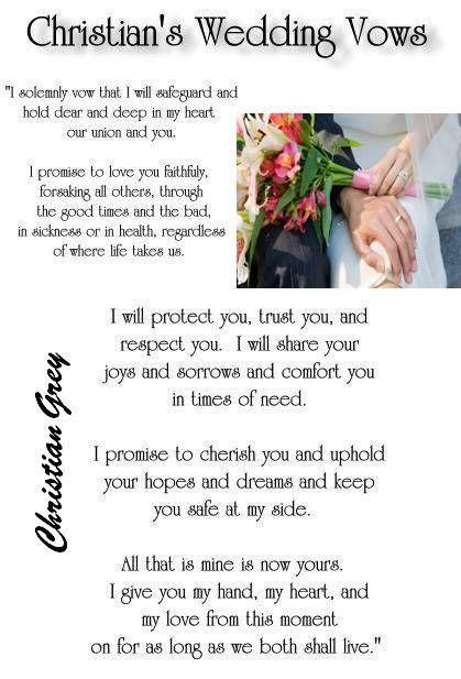 Christians Wedding Vows