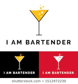 Pin Auf Bartender Logo Illustration Vector Vintage Hipster