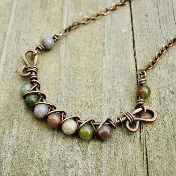 Jasper Wire Wrap Beads - WIRE Center •