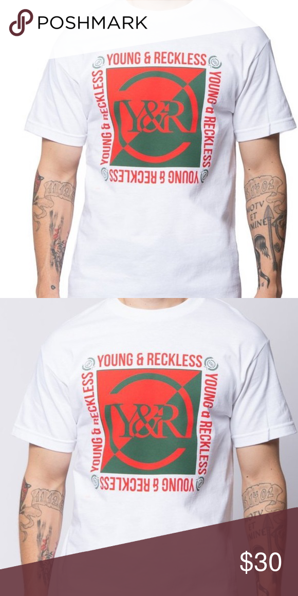 Young & Reckless T-shirt NWT Y&R SECTION TEE - WHITE brand