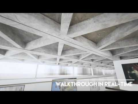 Real Time Walk Through - Art Gallery