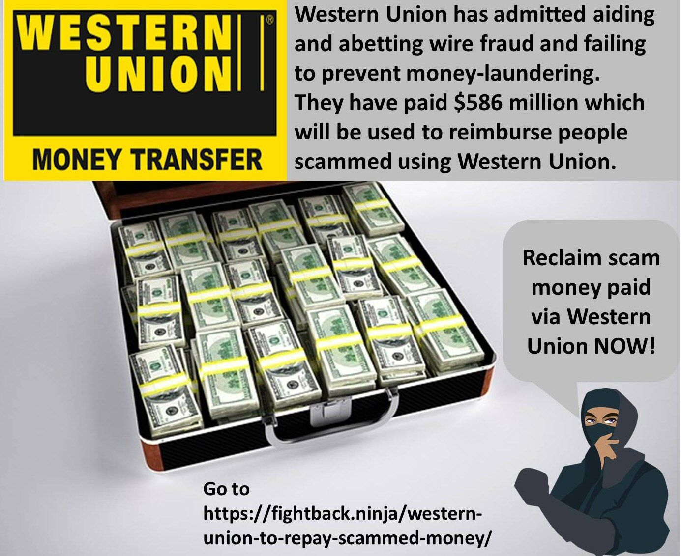 Western Union to Repay Scammed Money | Hacking | Atm card