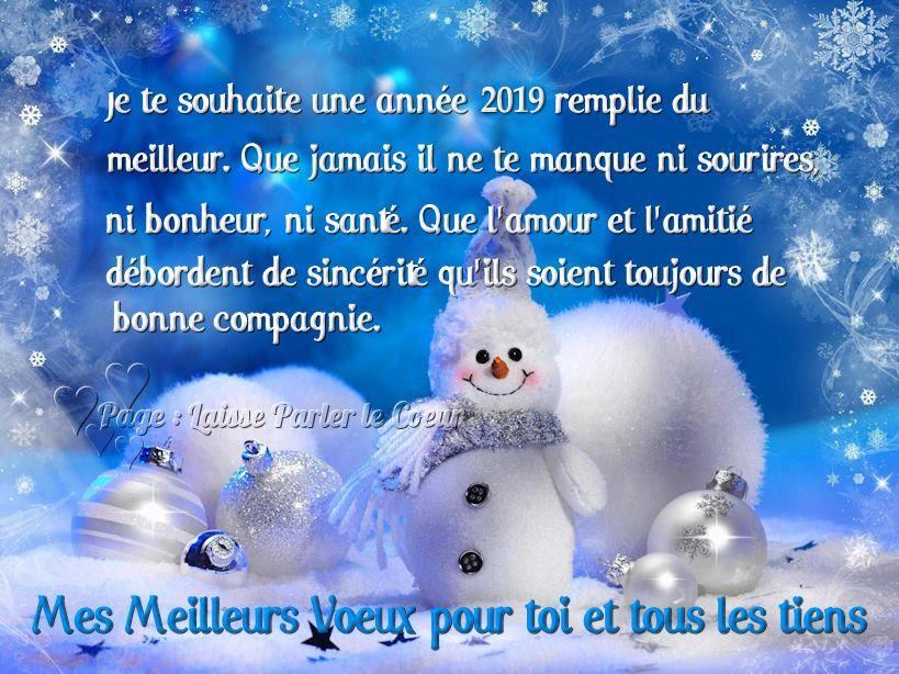 Mes Meilleurs Voeux Pour Toi Et Tous Les Tiens Bonne Année