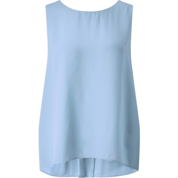 Somerset By Alice Temperley V Back Vest Top Cornflower Blue 61 Liked