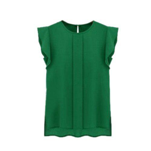 Toraway Women Fashion Oversized Chiffon Lace Short Sleeve Pink Blouse T-Shirt Casual tee for Women