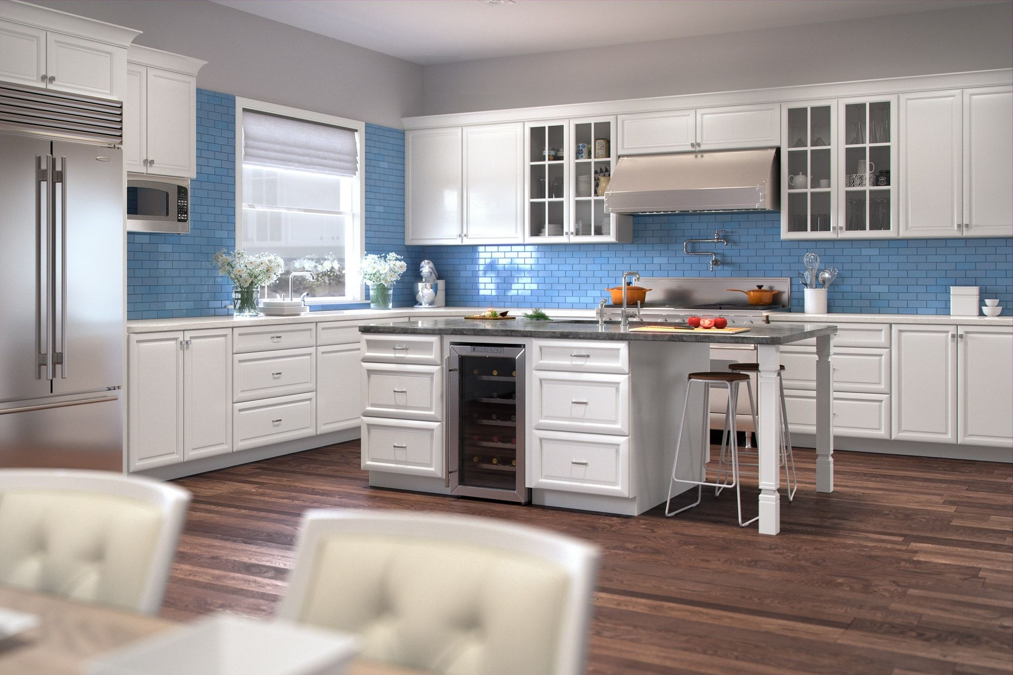 Regency White Pre Assembled Kitchen Cabinets The Rta Store