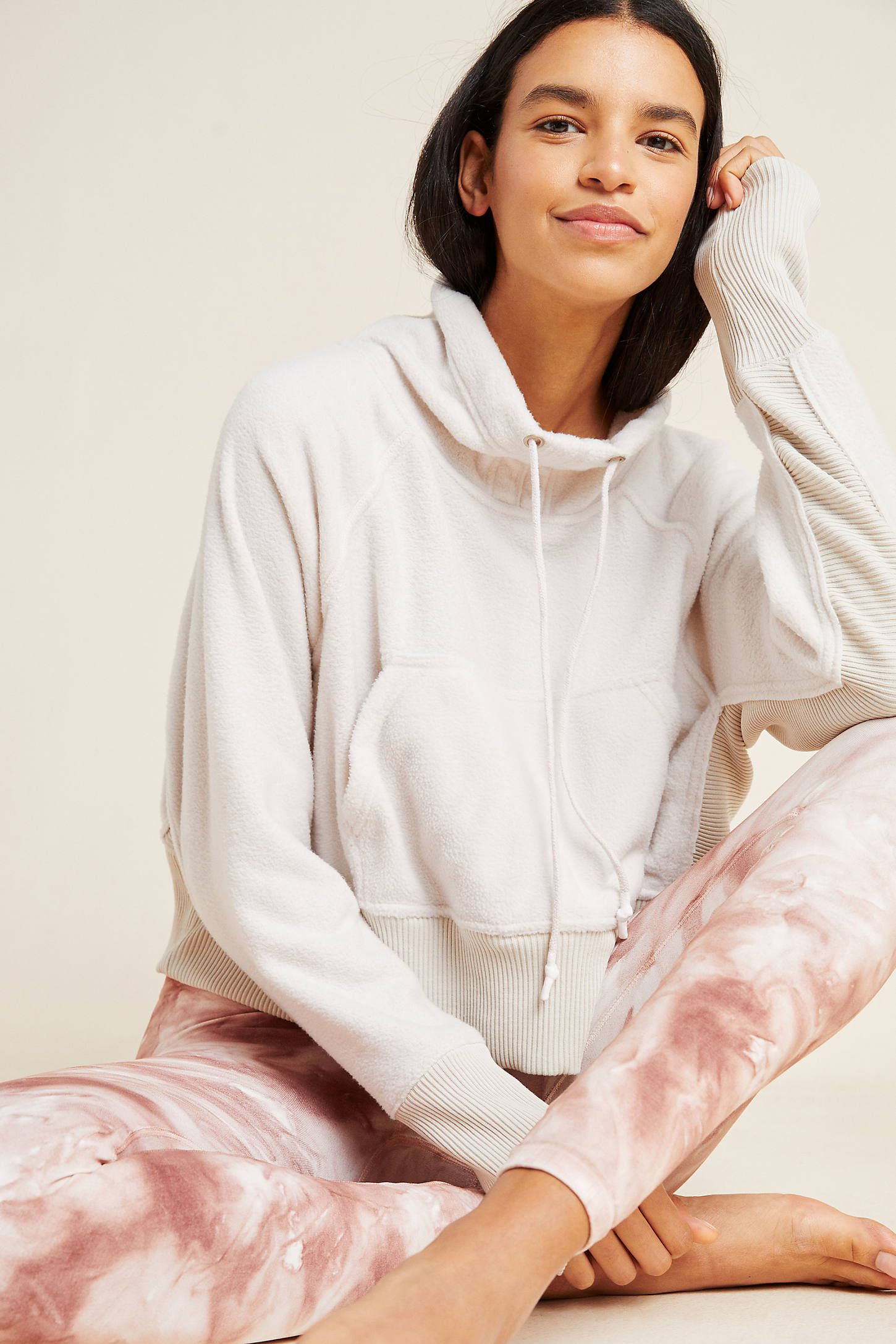 Free People Movement Westlake Sweatshirt by in Beige Size: S, Womens Activewear at Anthropologie