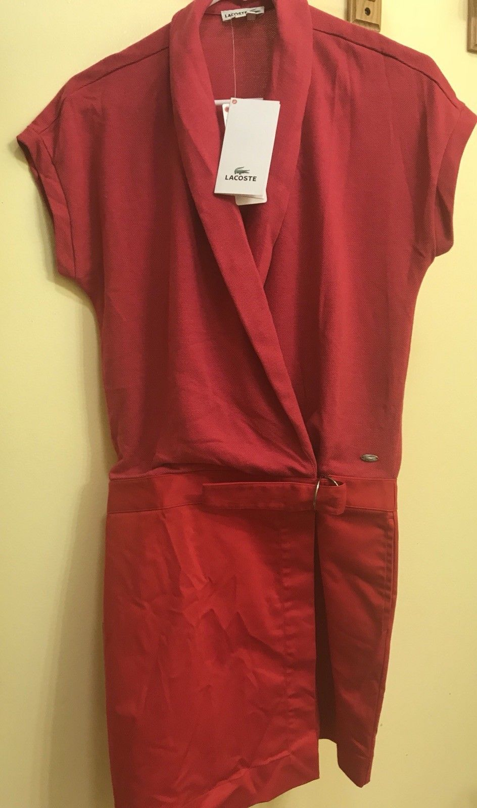 Awesome amazing lacoste womenus short sleeve polo dress w belt