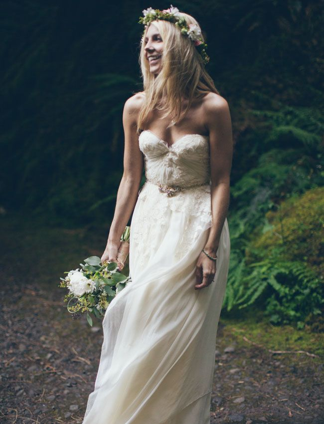 Waterfall Elopement In The Rainforest Jessi Cody Wedding Dress