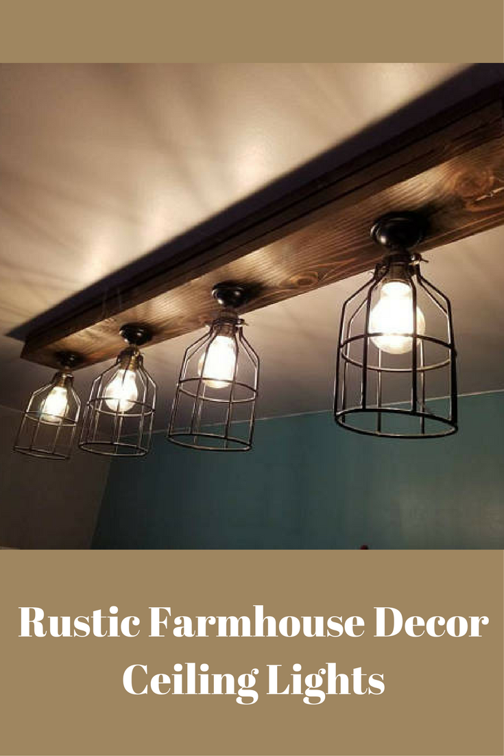 Rustic Farmhouse Decor Ceiling Light Cage Light Barn Light