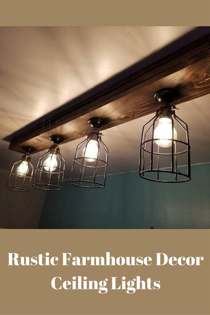 rustic farmhouse decor ceiling light cage light barn light rh pinterest com