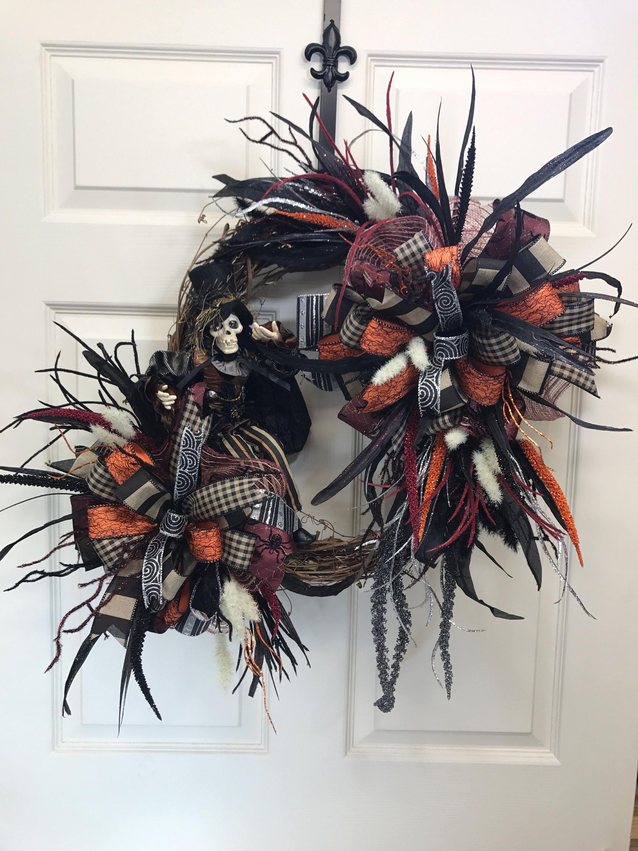 Now selling: Front Door Wreath, Wreath for Double Doors, Best Door Wreath, Holiday Wreath, Halloween wreath, Custom Wreath, double soor wreath https://www.etsy.com/listing/545489074/front-door-wreath-wreath-for-double?utm_campaign=crowdfire&utm_content=crowdfire&utm_medium=social&utm_source=pinterest