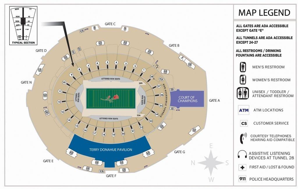 Rose Bowl Seating Chart Rose Bowl Stadium Seating Charts Seating Plan