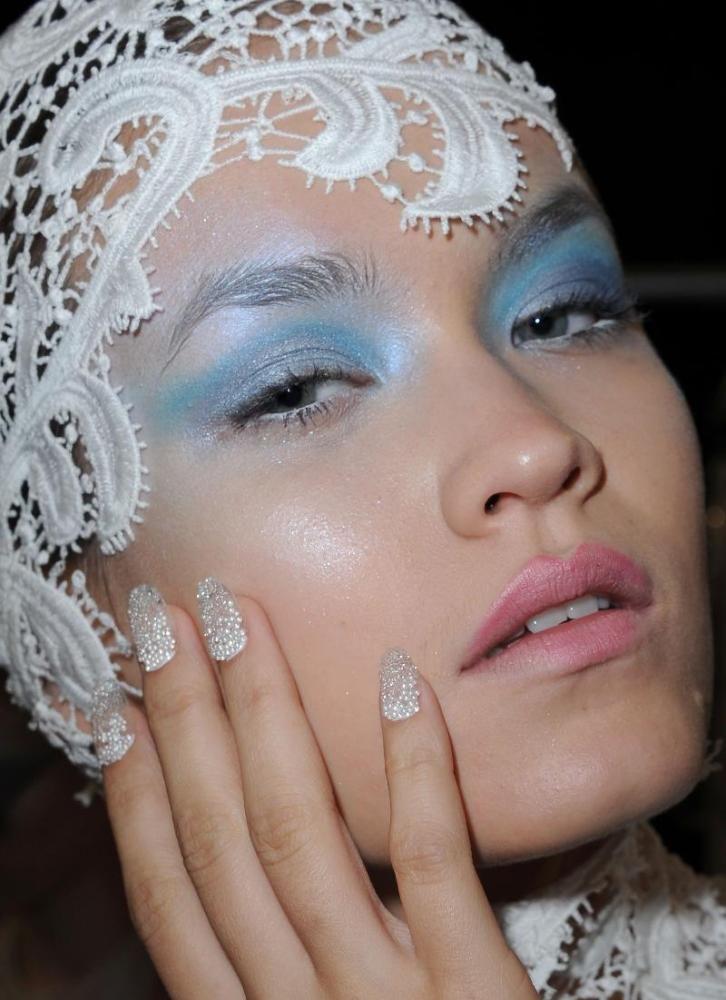 Joy Cioci  Underwater bubbles-inspired manicure. Photo Courtesy of CND