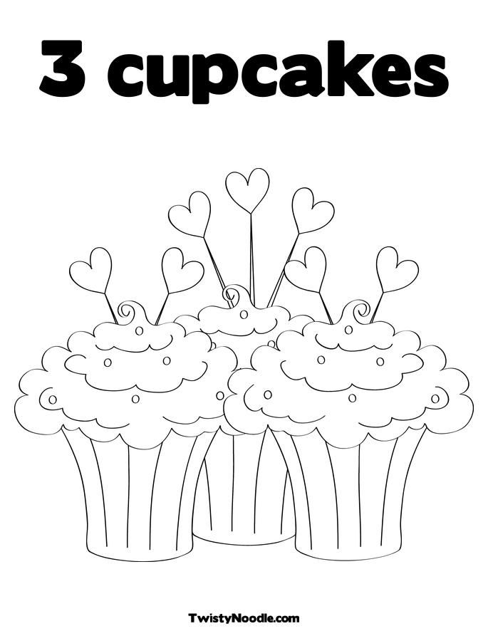 """iColor """"Cupcakes"""" ~ 3 Cupcakes made with Love!"""