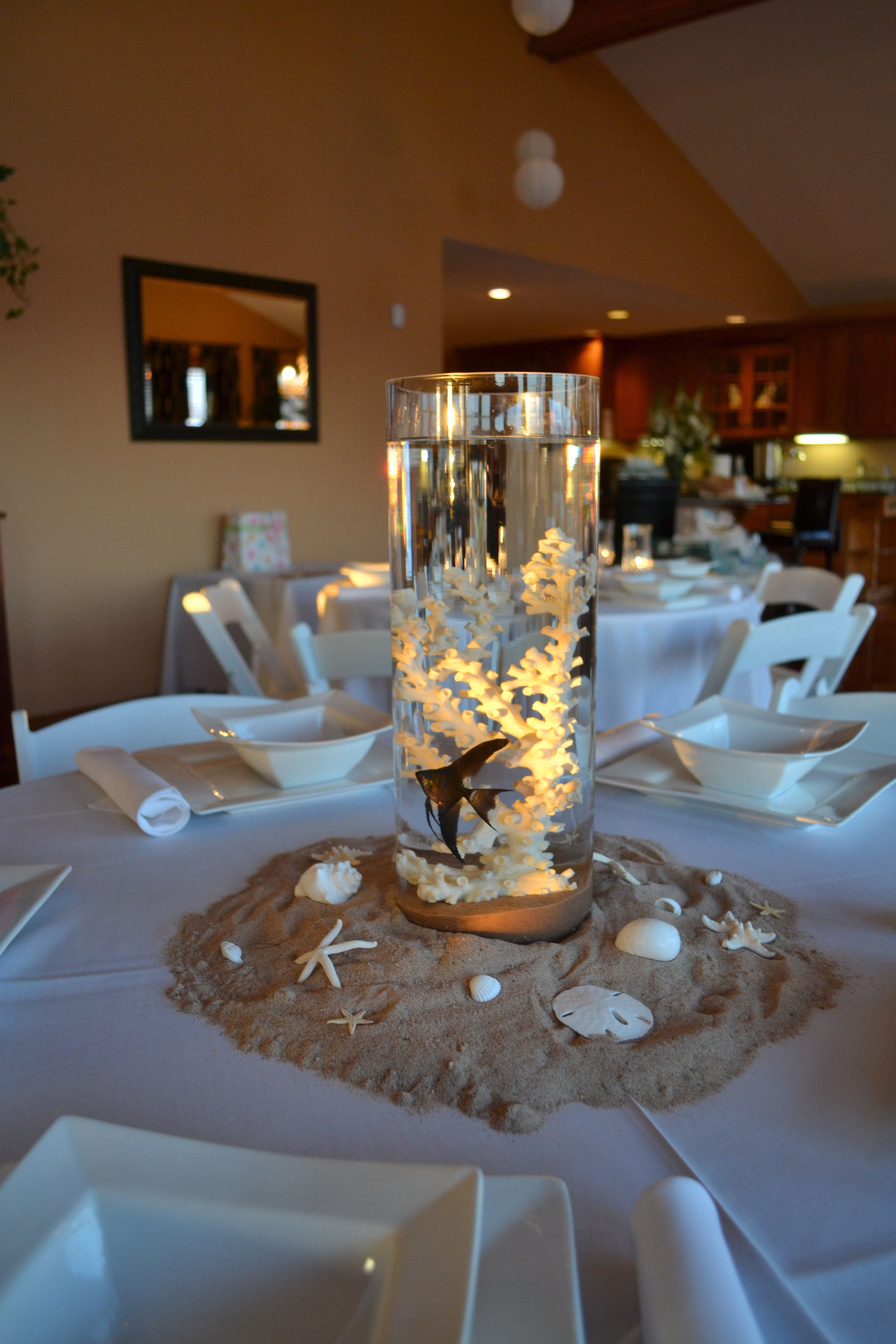 Silver Wedding Decorations For Tables Beach Wedding Decorations Beach Theme Wedding Beach Wedding Centerpieces