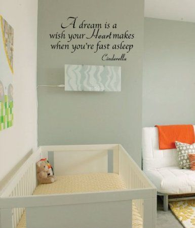 Amazon Com Newclew Cinderella Quote Vinyl Wall Decal Girls Room