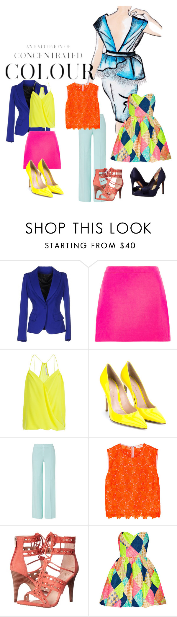 """""""A Splash Of Contrast"""" by lovelyds1986 on Polyvore featuring Gucci, Plein Sud, Versace, Trina Turk, Gianvito Rossi, ESCADA, A.L.C., Vince Camuto and Ted Baker"""