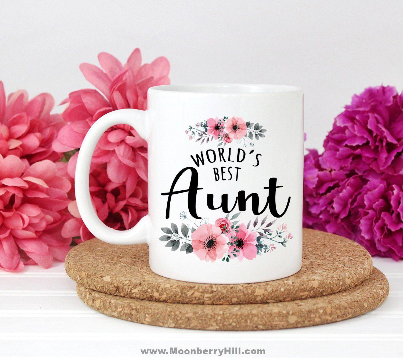 Aunt gift idea worlds best aunt mug gift for auntie