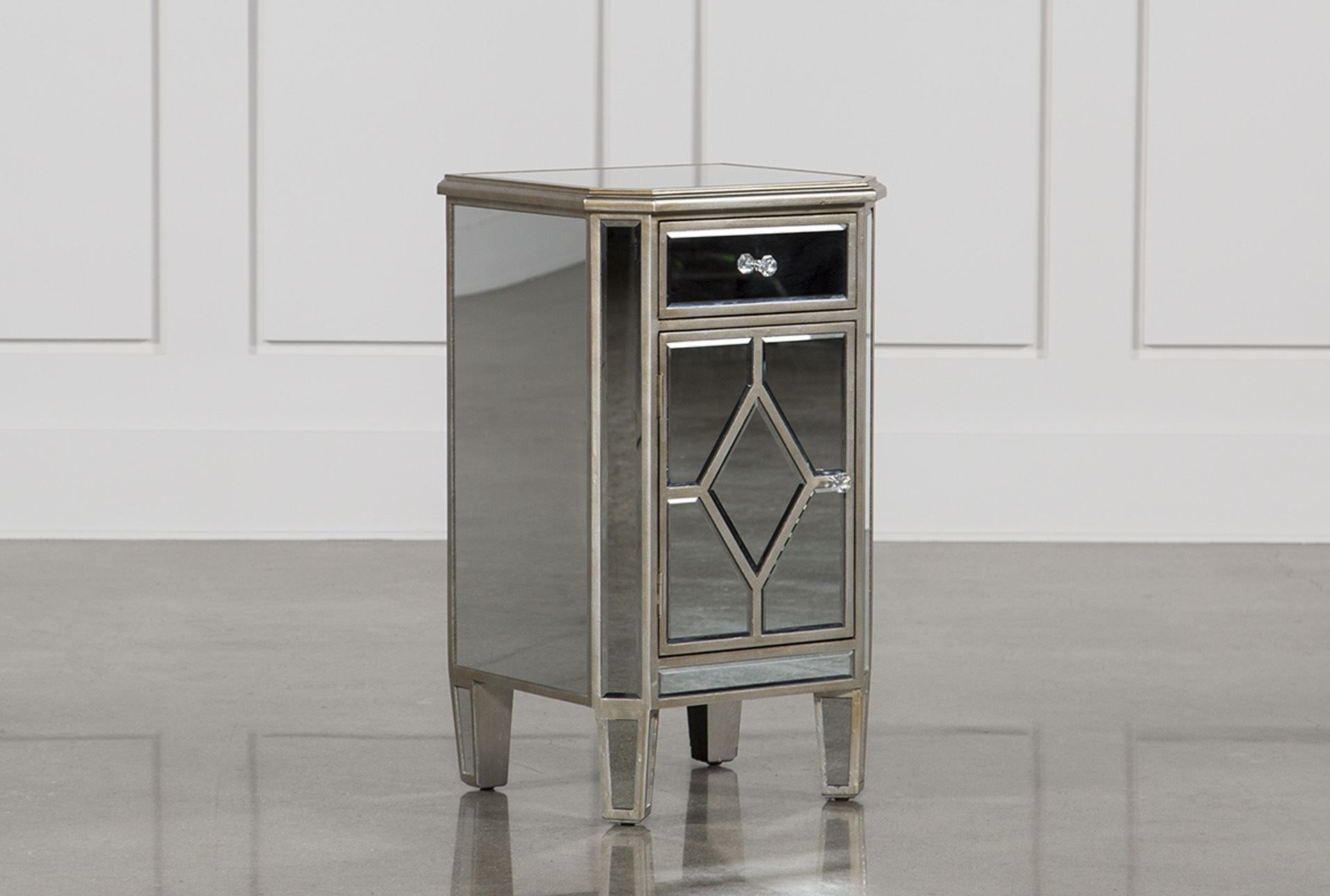 Hayworth Mirrored Nightstand Mirrored Nightstand Mirror Chest Of Drawers Nightstand