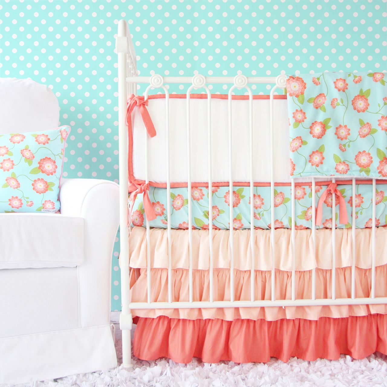 Floral Nursery Bedding Unique Caden Lane Baby Bedding  Coral Floral Baby Bedding $17200 Http 2018