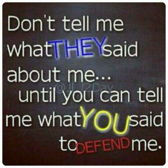 He say! she say!\