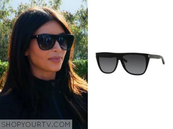 Kim Kardashian Flat Top Sunglasses | YSL Flat ... - SheFinds