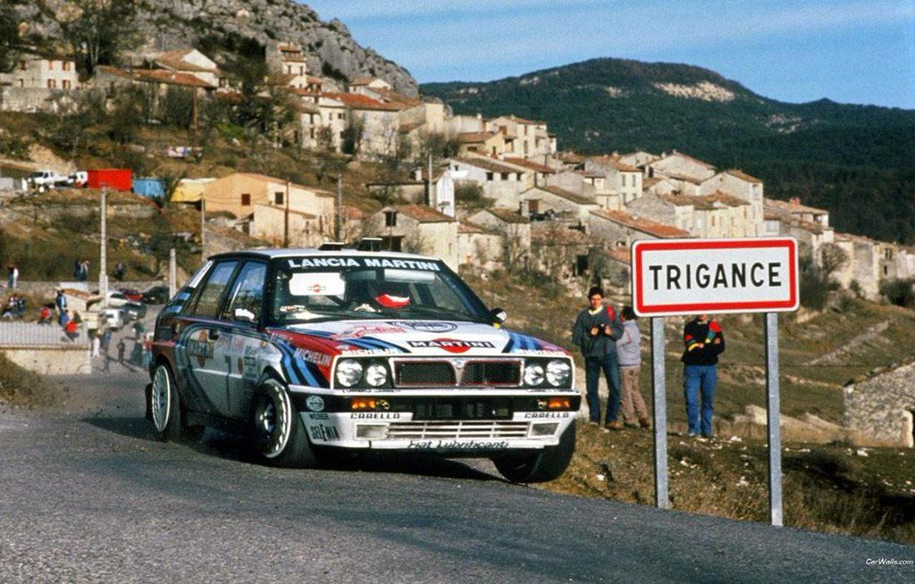 Didier Auriol/Bernard Occelli. Martini Racing Lancia Delta Integrale 16V. Rally Monte-Carlo 1990.