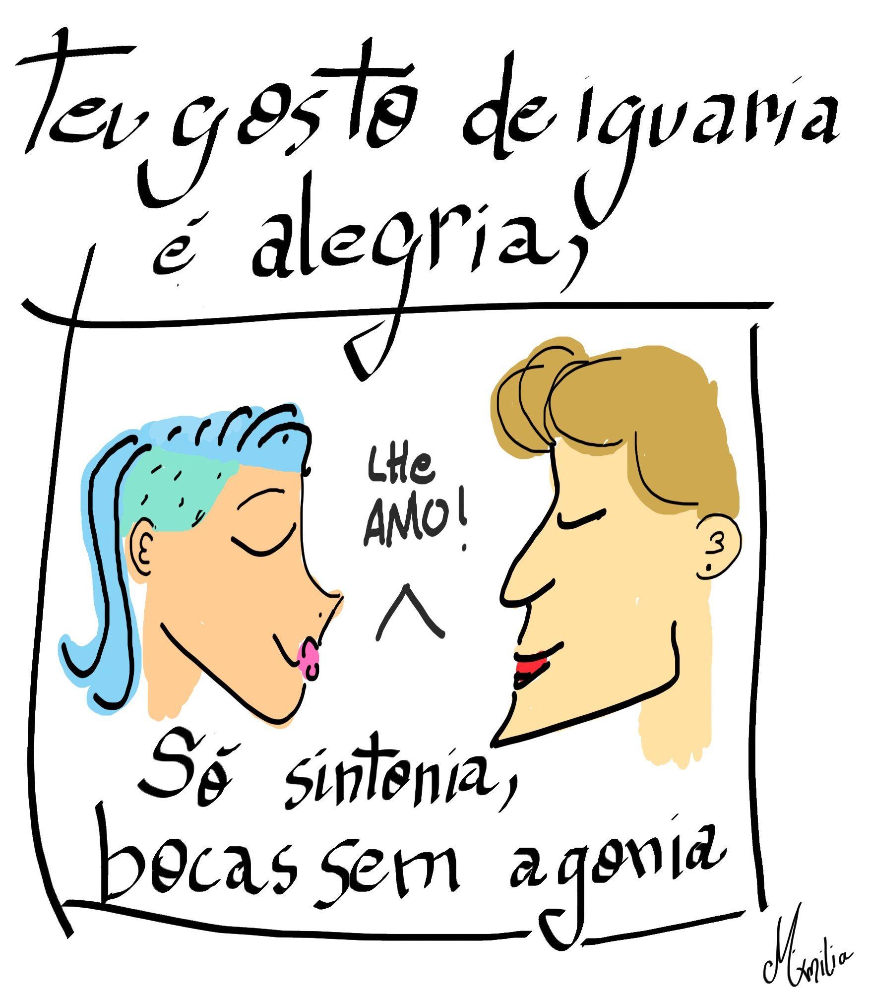#poesia #sintonia #desenho #draw #girl #bluehair #cartoon #amor