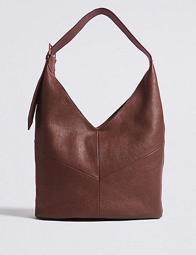 6c31ef2991db Leather Sling Hobo Bag