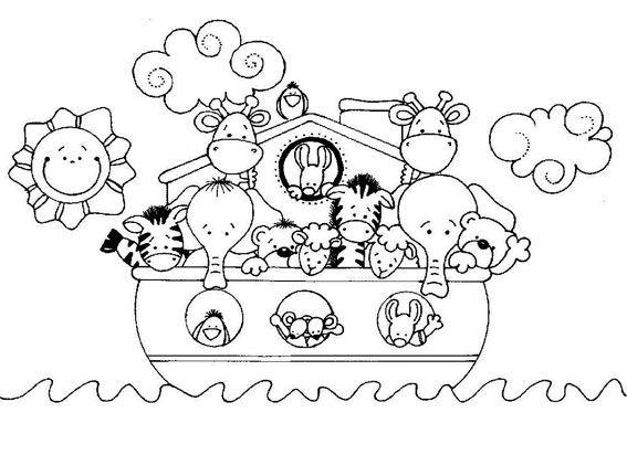 Dibujo Para Colorear Manualidades Cristianas El Arca De Noe Manualidades De La Biblia Para Niños