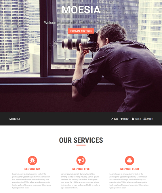 This free parallax WordPress theme offers 5 custom widgets, a clean ...