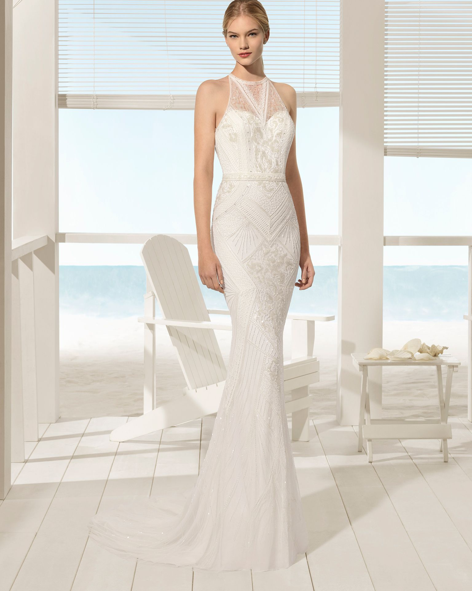 Aire barcelona ubach beach collection vestidos de novia