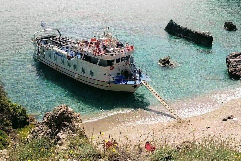 Skiathos Taking The Mamma Mia Boat Trip With Poseidon In 2020 Boat Trips Boat Skiathos