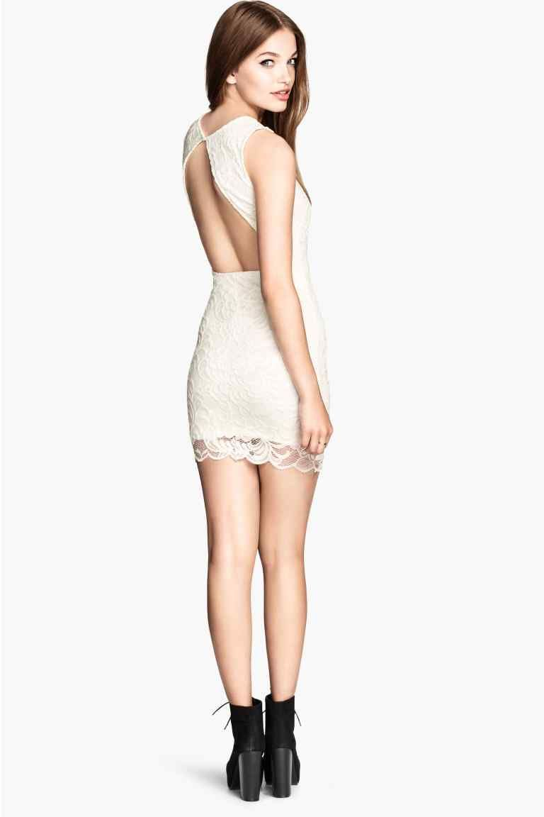H&m lace dress white  Robe en dentelle  HuM  Women Women   Pinterest  Robe