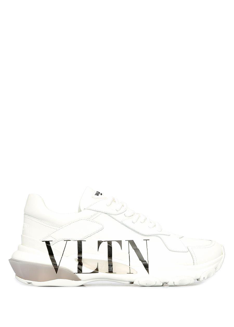 Valentino Garavani Beyaz Kadin Bounce Vltn Beyaz Kadin Deri Sneaker 621790 Beymen Sneaker Valentino Garavani Valentino