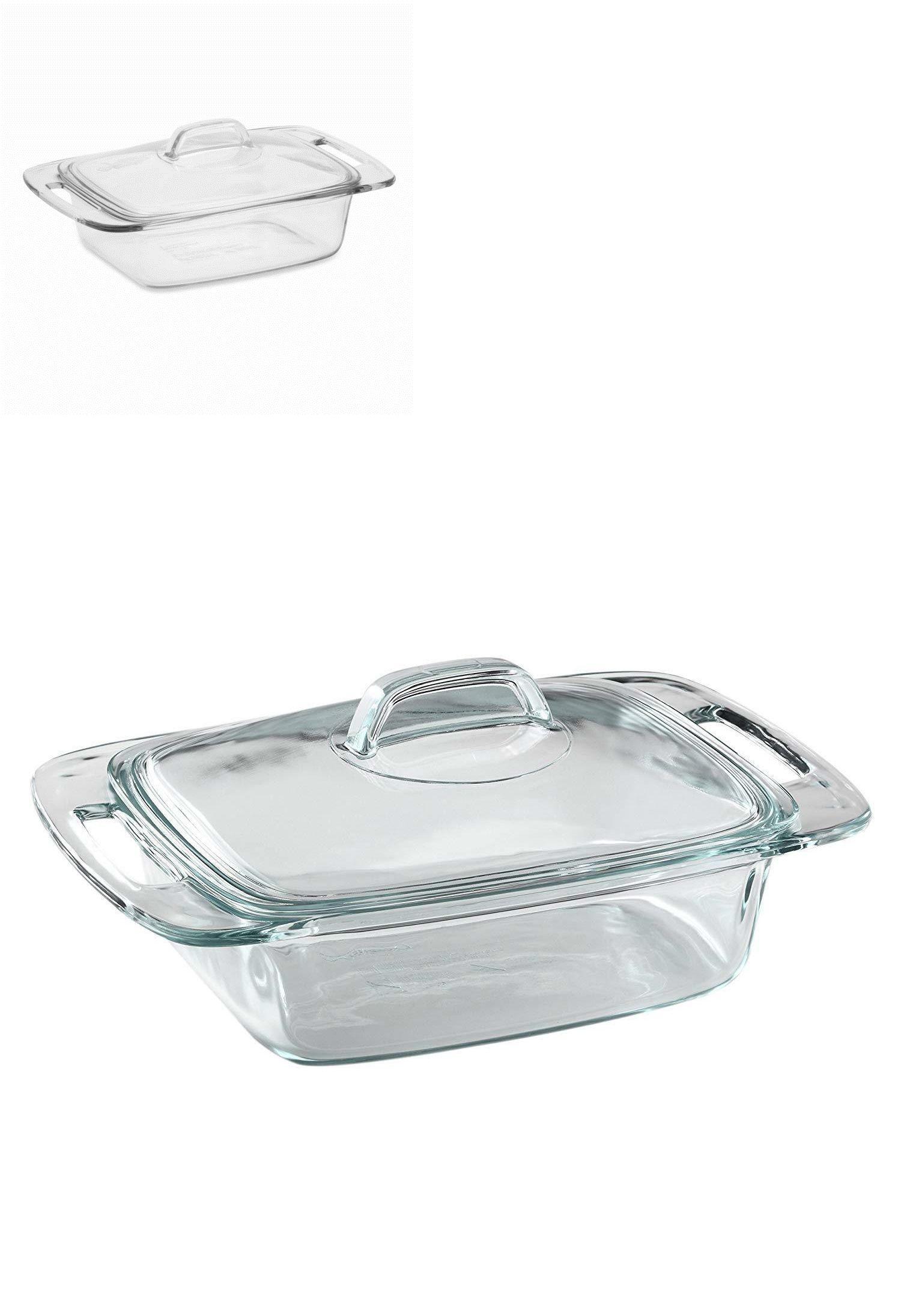 Bakeware 25464 Pyrex 2 Quart Casserole Glass Bakeware Dish With
