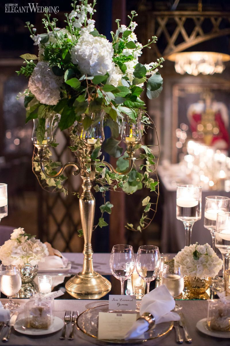 French romance gold and white mirror table top