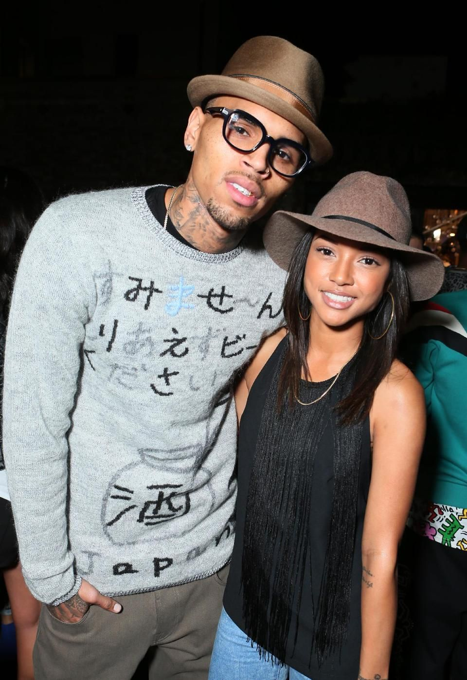 Chris and Karrueche at Jhene Aiko's EP release party